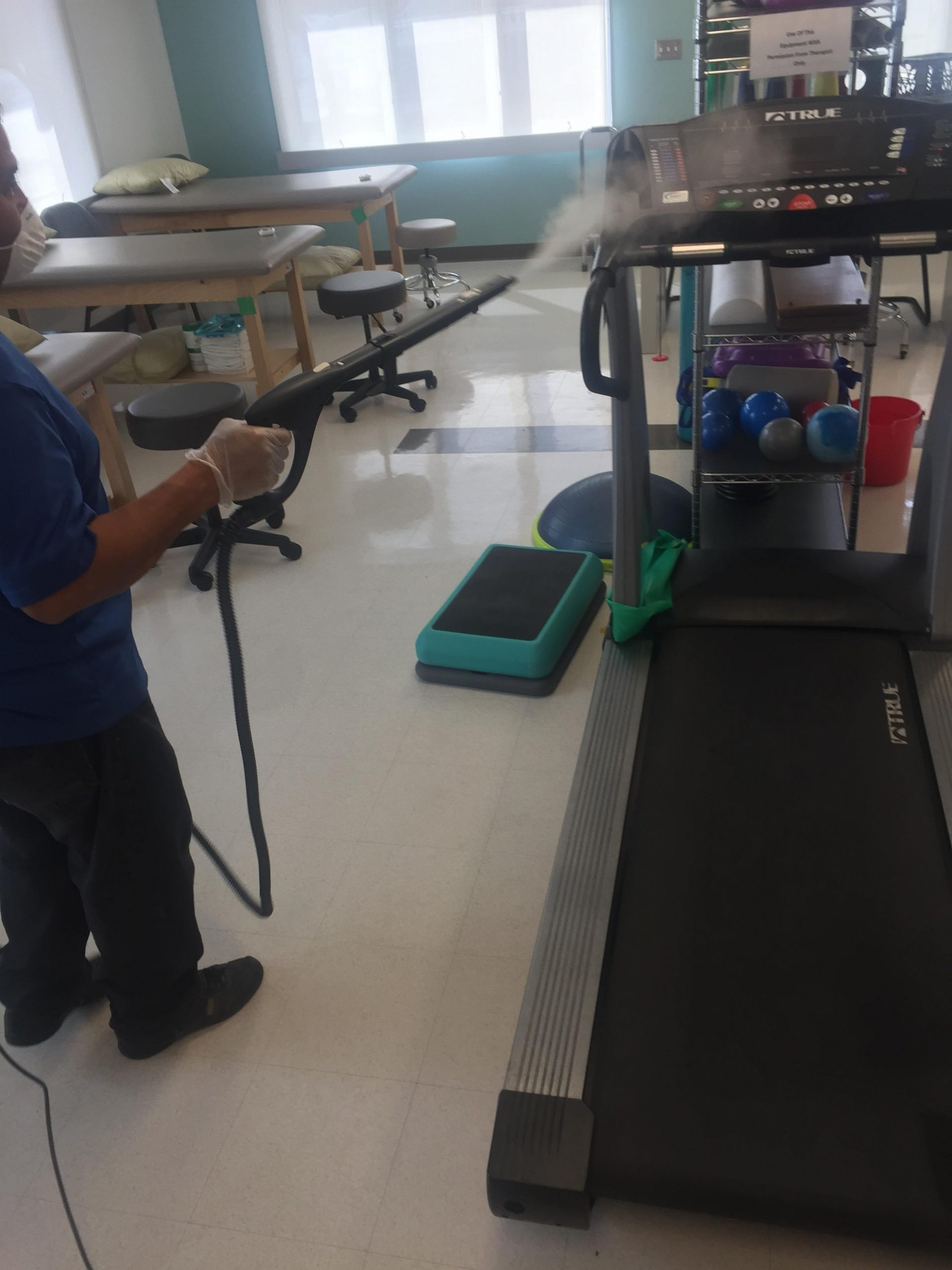 Fog Sanitizing commercial cleaning a daycare Facility in Downingtown PA